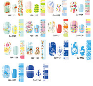 1PC Tip of The Finger Summer Icy A Summer All Posted 14 To Stick Nails Stickers