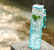 Áspero Transparente Ir Exterior Artigos para Bebida, 480 ml Anti-Vazamento Portátil Vidro Polipropileno Água Bebida carbonatadaGarrafas