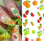 1 Sheet NEW Fruit Water Transfer Nail Stickers Strawberry Pineapple Orange Designs Beauty Nail Decal Decoration Tools