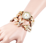 Women's Bracelet Watch Simulated Diamond Watch Imitation Diamond Quartz Plastic Band Pearls Elegant White Khaki