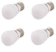 3W E27 Lampadine globo LED G80 SMD 5730 240 lm Bianco caldo Decorativo V 4 pezzi