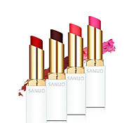 1Pcs New Brand Makeup Genuine Sanuo Memebox Romantic Cherry Waterproof Matte Lipstick Moisturize Pink Lip Sticks Cosmetic