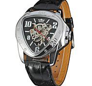 Men's Women's Unisex Sport Watch Dress Watch Fashion Watch Wrist watch Mechanical Watch Automatic self-winding Calendar Genuine Leather