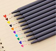 Гелевая ручка Ручка Ручки Water Color Ручка,Пластик бочка Красный Черный Синий Желтый Лиловый Оранжевый Зеленый Цвета чернил For Школьные