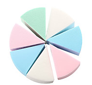 8Pcs/ Set Triangle Shaped Beauty Candy Color Soft Magic Face Cleaning Cosmetic Puff Cleansing Wash Face Makeup Foundation Sponge Hot