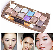 Professional Eye Makeup 12 Colors Eyeshadow Palette Gold Smoky Cosmetics Makeup Palette Diamond Bright Glitter Eye Shadow