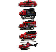 Fire Engine Vehicle Vehicle Playsets 1:64 Metal Plastic Red