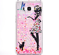 For Samsung Galaxy G530 Case Cover Beauty And Cat Pattern Small Fresh Series PC Material Love Quicksand Flash Powder Phone Case
