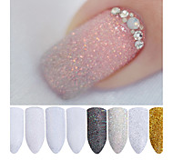 2g/Box Holographic Nail Glitter Powder Shining Sugar Nail Glitter Dust Powder Nail Art Decorations Set