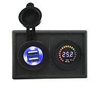 24v светодиодный цифровой дисплей вольтметра и 4.2а USB адаптер с держателем корпус панель для автомобиля лодки грузовик с.в.