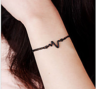 Bracelet Chain Bracelet Alloy Others Natural Gift Valentine Jewelry Gift Gold Black,1pc
