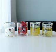 Прозрачный Мультяшная тематика Стаканы, 310 ml BPA Free двустенных Стекло Чайный Телесный Чайные чашки