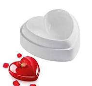 выпечке Mold Сердце Для торта Для шоколада силиконовыйДень Святого Валентина Сделай-сам 3D Высокое качество Антипригарное покрытие