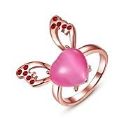 Ringe Kristall Alltag Normal Schmuck Aleación Rose Gold überzogen Damen Ring 1 Stück,8 Rotgold