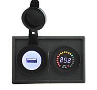 24v светодиодный цифровой дисплей вольтметра и 2.1A USB адаптер с держателем корпус панель для автомобиля лодки грузовик с.в.