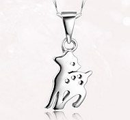 Pendants Sterling Silver Basic Unique Design Animal Design Fashion Silver Jewelry Daily 1pc