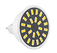 YWXLight® High Bright 5W MR16 LED Spotlight 24 SMD 5733 400-500 lm Warm White / Cool White AC 110V/ AC 220V