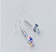 Drop Earrings Crystal Sterling Silver Simulated Diamond Silver Jewelry Daily Casual 1 pair