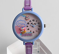 Women's Fashion Watch Quartz / PU Band Cartoon Casual Purple Brand