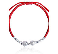 Bracelet Chain Bracelet Alloy Silver Plated Nylon Snake Fashion Birthday Gift Valentine Christmas Gifts Jewelry Gift Silver Red,1pc