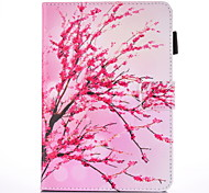 For IPad Air 2  IPad Air Case Cover Peach Blossom  Pattern PU Skin Material Flat Protective Shell