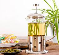 vidro de aço inoxidável imprensa francesa, 3 xícaras de chá perfumado reutilizáveis fabricante