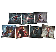 Set of 7 Avenger 2  movie characters  Linen  Cushion Cover Home Office Sofa Square  Pillow Case Decorative Cushion Covers Pillowcases