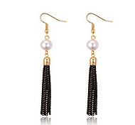 Stud Earrings Pearl Pearl Alloy Natural Fashion Jewelry White Fuchsia Light Purple Jewelry Daily 1 pair