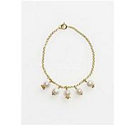 Chain Bracelet Pearl Alloy Fashion Jewelry Gold Jewelry 1pc