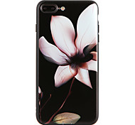 Para Diseños Funda Cubierta Trasera Funda Flor Suave TPU para Apple iPhone 7 Plus iPhone 7