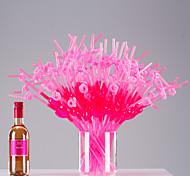 цветной Стаканы, # ml Одноразового использования Пластик Сок Газированные напитки Соломинки