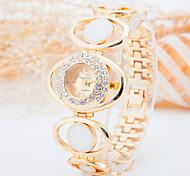 Montre Tendance Montre Diamant Simulation Quartz Plaqué Or Rose Alliage Bande Doré