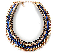 Women's Choker Necklaces Statement Necklaces Jewelry Alloy Jewelry Circle Adjustable Euramerican Statement Jewelry Fashion Black Dark Blue
