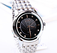 Men's Couple's Fashion Watch Quartz Stainless Steel Band Silver Brand