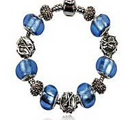 Women's Chain Bracelet Crystal Alloy Simulated Diamond Natural Fashion Round Anchor Blue Jewelry 1pc