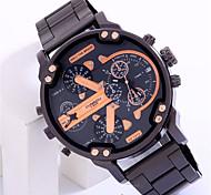 Men's Fashion Watch Quartz Plastic Band Cool Casual Black Brand