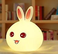 usb de la luz de carga de la noche de silicona lightrabbit (de dibujos animados al azar)