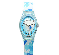 Unisex Fashion Watch Quartz Rubber Band Cool Casual Blue Red