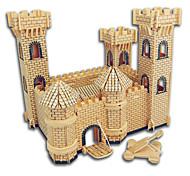 Quebra-cabeças Quebra-Cabeças de Madeira Blocos de construção Brinquedos Faça Você Mesmo Construções Famosas Arquitetura Chinesa Casa 1