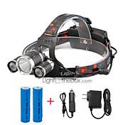 U'King® ZQ-X807EU# CREE XML T6  2R5 3 LED 4000LM 4Modes Multifunction Headlamp Bicycle Light for Camping Hiking