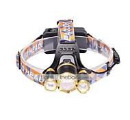 Налобные фонари LED 6000 Люмен 3 Режим Cree XM-L T6 18650 Фокусировка Компактный размерПоходы/туризм/спелеология Повседневное