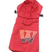 Собака Дождевик Одежда для собак На каждый день Спорт Английский Коричневый Красный Розовый