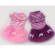 Dog Coat Purple Pink Dog Clothes Spring/Fall Princess Cute