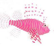 Aquário Decoração Peixe Artificial Atóxico & Sem Sabor Borracha Vermelho