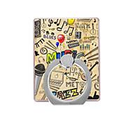Music Pattern Plastic  Ring Holder / 360 Rotating for Mobile Phone
