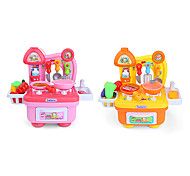 Kids' Cooking Appliances Model & Building Toy Toys LED Lighting Sound Toys ABS Pink Yellow For Girls