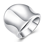 Hot Sale Fashion Ring Silver Plated Ring Silver Color Jewelry Ring Factory Prices Thumb Ring-Opened Couple Ring Christmas