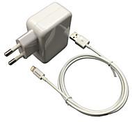 CE-zertifiziert eu Reise-Wandaufladeeinheit 1a / 2.4a Doppelausgang + apple mfi zertifizierten Blitzkabel für iphone ipad iPod-6