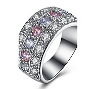 White Gold Plated Wedding Jewelry Rings for Women Crystal Engagement Ruby Jewelry Oval Zircon CZ Diamond Ring White Gold Ring