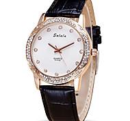 Modeuhr Armbanduhr Quartz PU Band Cool Bequem Schwarz Weiß Rot Orange Weiß Schwarz Orange Rot